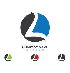 L letter logo vector