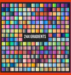 mega set 244 gradients vector image