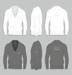Men cardigan design template vector
