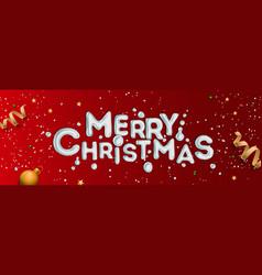 merry christmas banner horizontal christmas vector image