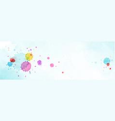 modern background design with multicolored splash vector image