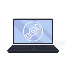 Monitor laptop icon business concept vector