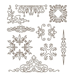 Monogramsline design elements for logos frames vector image