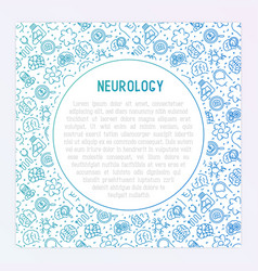 Neurology concept with thin line icons vector
