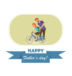 open letter with an inscription happy fathers day vector image