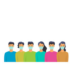 people in medical masks people in quarantine vector image