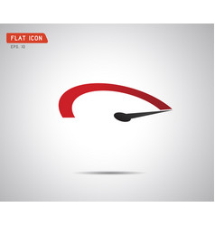 performance measurement logo speed icon vector image