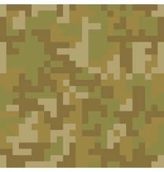 Pixel camo seamless pattern Brown desert or vector