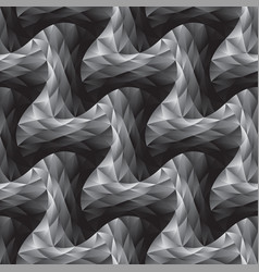 polygon and curve geometric seamless pattern vector image