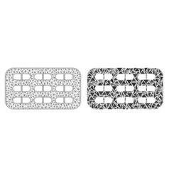Polygonal carcass mesh pill blister and mosaic vector