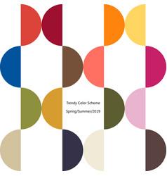 Poster trendy color scheme by plain color arcs vector