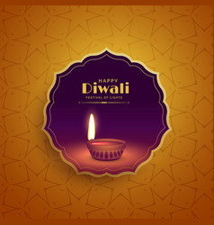 Premium diwali festival greeting background with vector