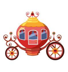 Princess coach icon cartoon style vector