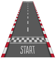 Racing asphalt road vector
