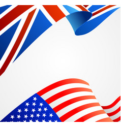 realistic detailed 3d flag background card vector image