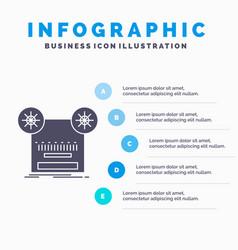 record recording retro tape music infographics vector image