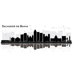 salvador de bahia city skyline silhouette vector image