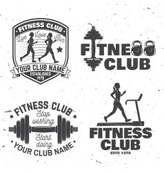 set fitness club badges concept vector image