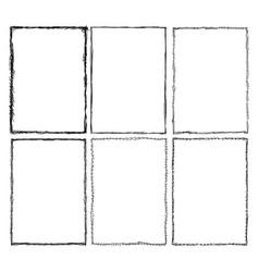 set of sketchy frames vector image