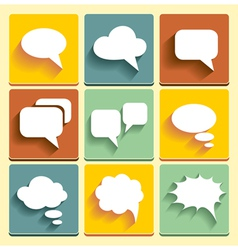 Set Speech bubble icons vector image