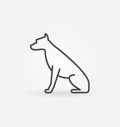 sitting dog icon vector image