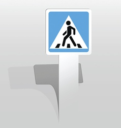 Square pedestrian crossing sign vector