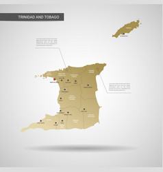 stylized trinidad and tobago map vector image