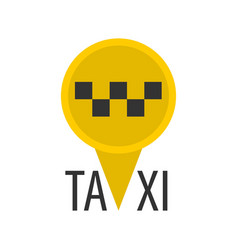 taxi sign in pin vector image