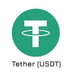 Tether usdt crypto coin ic vector
