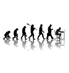 theory of evolution of man vector image