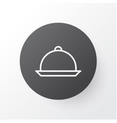 Tray icon symbol premium quality isolated platter vector