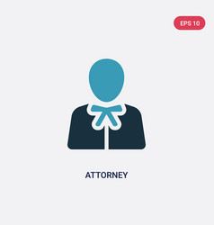 Two color attorney icon from law and justice vector