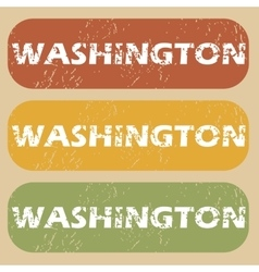 Vintage Washington stamp set vector image