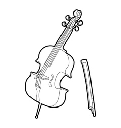 Violin icon outline isometric style vector image