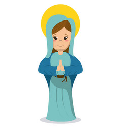 Virgin mary religious catholic image vector