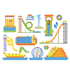 water aquapark playground family vacation funny vector image