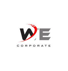 We modern letter logo design with swoosh vector