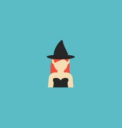 Witch icon flat element of vector