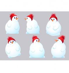 xmas snowman vector image