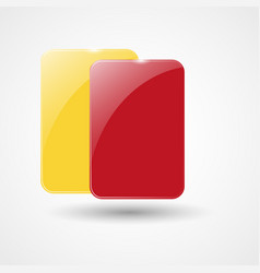 Yellow card and red card vector