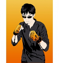 young boy boxer extreme sports vector image
