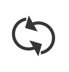 arrow cycle icon design vector image