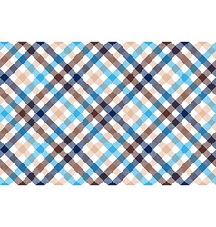 Blue beige diagonal check seamless pattern vector image