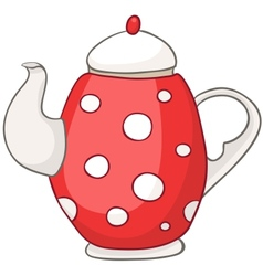 cartoon home kitchen kettle vector image vector image