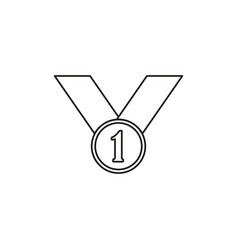 first place medal icon vector image vector image