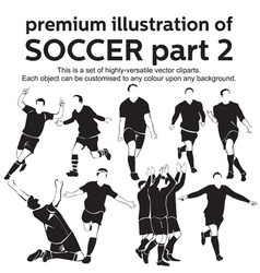 Premium Soccer Part 2 vector image vector image