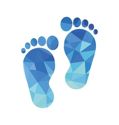 Sole of the foot icon vector
