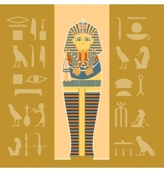 Banner of sarcophagus vector image vector image