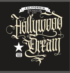 hollywood t-shirt vector image