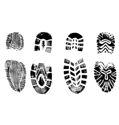 4 Isolated BootPrints - Highly detailed of walking vector image vector image